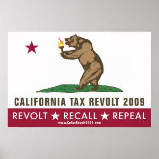 Poster de la bandera de la rebelión de impuesto de