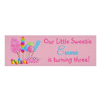 Poster de la bandera de los dulces del país de las