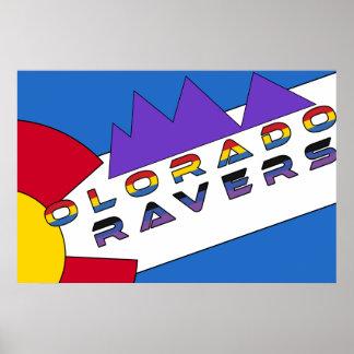 Poster de la bandera de los Ravers de Colorado Póster