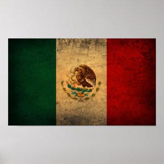 Poster de la bandera de México