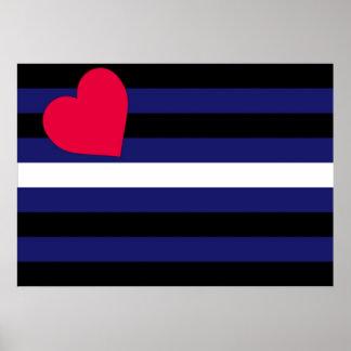Poster de la bandera de orgullo de cuero