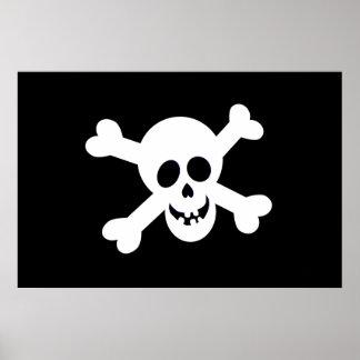 Poster de la bandera de pirata