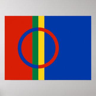 Poster de la bandera de Sami