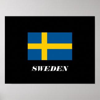 Poster de la bandera de Suecia