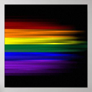 Poster de la bandera del arco iris póster