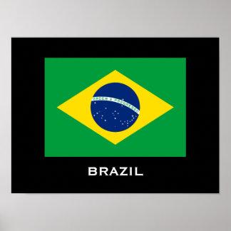 Poster de la bandera del Brasil