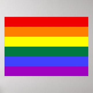 Poster de la bandera del orgullo del arco iris