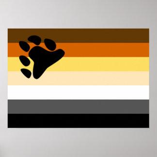 Poster de la bandera del orgullo del oso