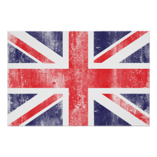 Poster de la bandera del vintage