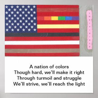 Poster de la bandera póster