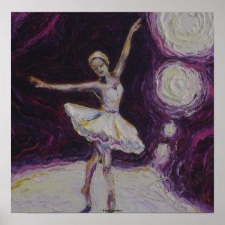 Poster de la bella arte de la bailarina del baile