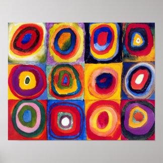 Poster de la bella arte de los círculos concéntric