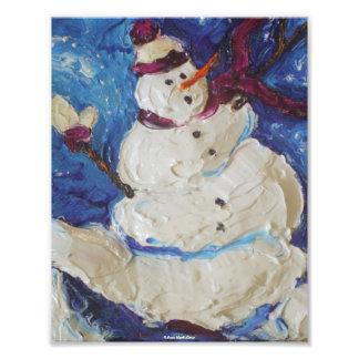 Poster de la bella arte del navidad del muñeco de  foto