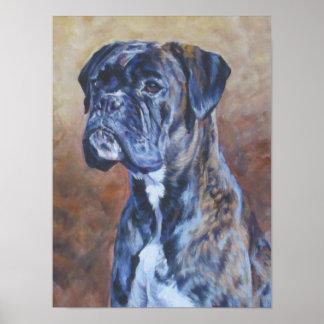 Poster de la bella arte del perro del boxeador