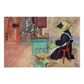 Poster de la bella arte del ruibarbo de la peladur