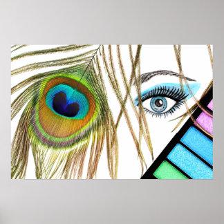 Poster de la belleza del maquillaje del ojo