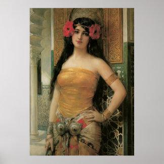 Poster de la belleza del vintage