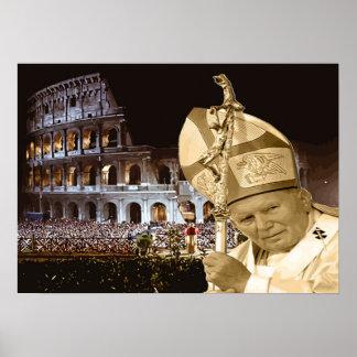 Poster de la bendición de Juan Pablo II