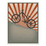 Poster de la bici del estilo del vintage