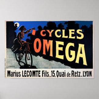 Poster de la bicicleta: Ciclos Omega