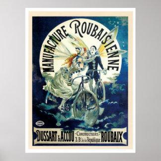 Poster de la bicicleta de la hada y del vintage