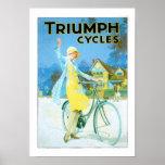 Poster de la bicicleta de los ciclos de Triumph de