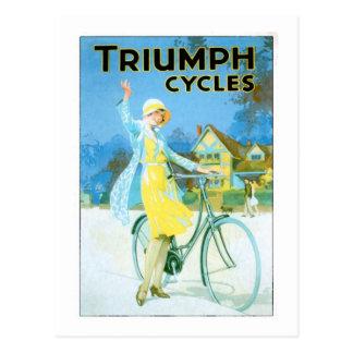 Poster de la bicicleta de los ciclos de Triumph de Tarjeta Postal