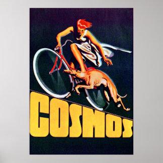 Poster de la bicicleta del cosmos del vintage