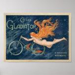 Poster de la bicicleta del gladiador