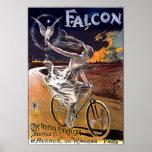 Poster de la bicicleta del halcón