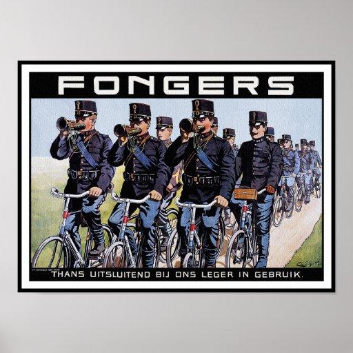 Poster de la bicicleta del vintage: Bicicletas de