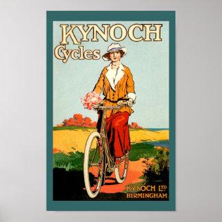 Poster de la bicicleta del vintage - ciclos de Kyn