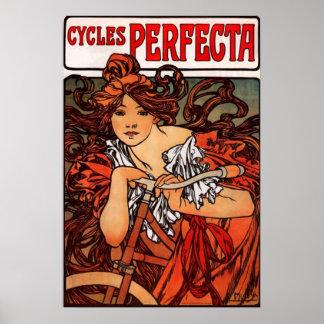 Poster de la bicicleta del vintage de Alfonso Much Póster