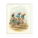 Poster de la bicicleta del vintage, gallos de Penn Tarjeta Postal