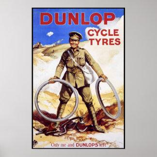 Poster de la bicicleta del vintage - neumáticos de