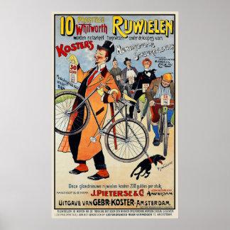 Poster de la bicicleta del vintage:  Whitworth