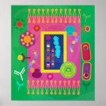 Poster de la biología - estilo de Matisse