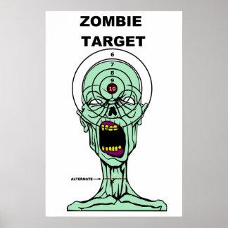 Poster de la blanco de los cazadores del zombi