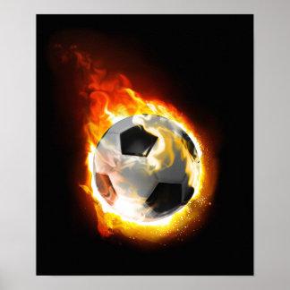 Poster de la bola de fuego del fútbol