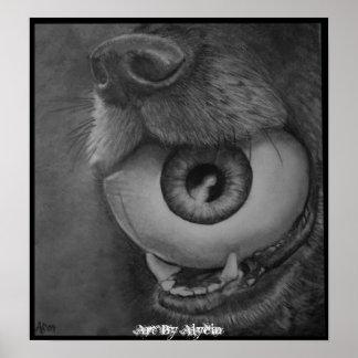 Poster de la bola del ojo del perro