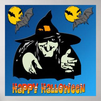Poster de la bruja de Halloween