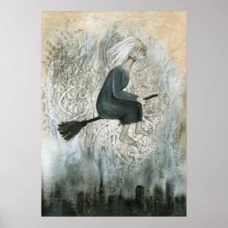 Poster de la bruja de la suciedad de la ciudad