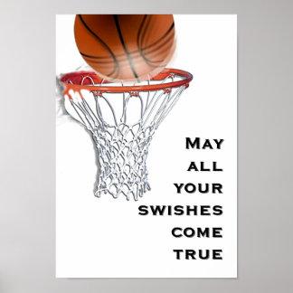 poster de la bueno-suerte del baloncesto