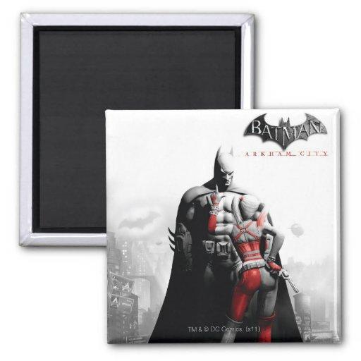 Poster de la CA - Batman y Harley Imán Cuadrado