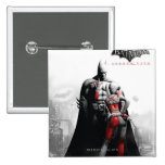 Poster de la CA - Batman y Harley Pin Cuadrado