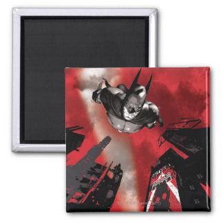 Poster de la CA - el volar de Batman Imán Cuadrado