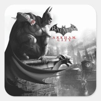 Poster de la CA - repisa del Gargoyle de Batman Colcomanias Cuadradas Personalizadas