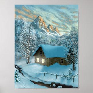 Poster de la cabaña de la montaña