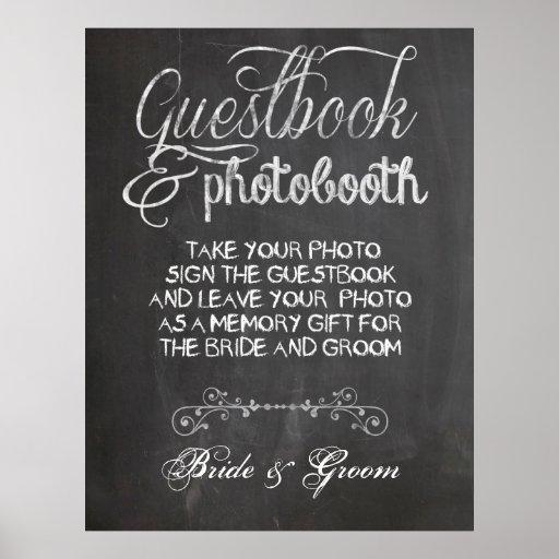 Poster de la cabina de la foto del boda de la