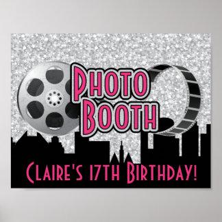 Poster de la cabina de la foto del fiesta de póster